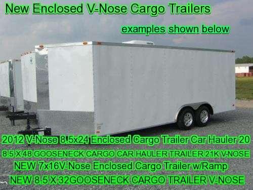 v-nose cargo trailers click here